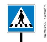 denmark pedestrian crossing... | Shutterstock .eps vector #452503471