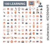 learning icons | Shutterstock .eps vector #452504695