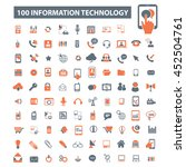 information technology icons | Shutterstock .eps vector #452504761