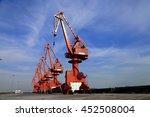port crane bridge and bulk... | Shutterstock . vector #452508004