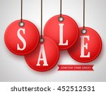 vector red sale tag with... | Shutterstock .eps vector #452512531