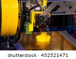 working 3d printer close up of... | Shutterstock . vector #452521471
