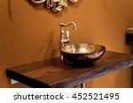 retro style bathroom   detail... | Shutterstock . vector #452521495