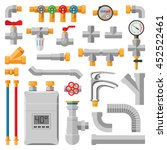 details pipes different types... | Shutterstock .eps vector #452522461