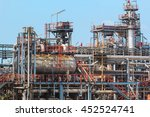 refinery plant thailand oil and ... | Shutterstock . vector #452524741