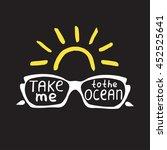 summer quote. brush pen... | Shutterstock .eps vector #452525641