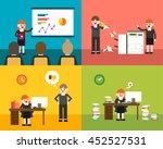 business people vector... | Shutterstock .eps vector #452527531