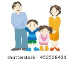 parents with their children  | Shutterstock .eps vector #452528431