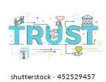 trust word lettering typography ... | Shutterstock .eps vector #452529457