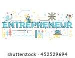 entrepreneur word lettering... | Shutterstock .eps vector #452529694