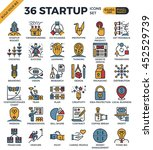 startup business pixel perfect... | Shutterstock .eps vector #452529739