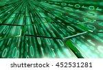 big data concept digital green... | Shutterstock . vector #452531281