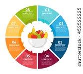 fruits platter circle info...   Shutterstock .eps vector #452533225