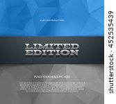 vector promo banner with shadow ... | Shutterstock .eps vector #452535439