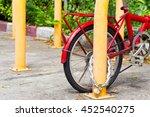 Locked Bicycle At Bicycle...