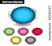 collection of oval icons with... | Shutterstock .eps vector #45254197