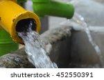 closeup underground water pipe. | Shutterstock . vector #452550391