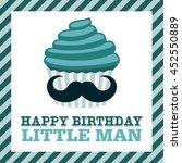 happy birthday greeting card | Shutterstock .eps vector #452550889