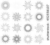 set of vintage sunburst | Shutterstock .eps vector #452558107