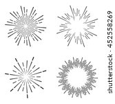 set of vintage sunburst   Shutterstock .eps vector #452558269