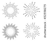 set of vintage sunburst | Shutterstock .eps vector #452558275