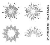 set of vintage sunburst | Shutterstock .eps vector #452558281