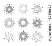 set of vintage sunburst | Shutterstock .eps vector #452558617