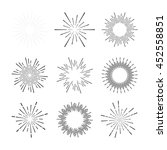 set of vintage sunburst | Shutterstock .eps vector #452558851