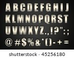 chrome alphabet | Shutterstock . vector #45256180