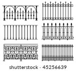 Black And White Wrought Iron...