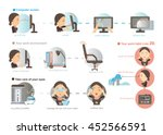 working women prevention of eye ... | Shutterstock .eps vector #452566591