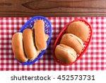 hamburger and hot dog buns in...   Shutterstock . vector #452573731