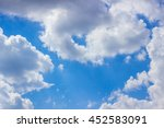 blue sky with clouds | Shutterstock . vector #452583091