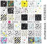 geometric memphis seamless... | Shutterstock .eps vector #452583511