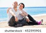 pleasant  smiling mature couple ... | Shutterstock . vector #452595901