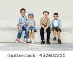 kids fun children playful... | Shutterstock . vector #452602225