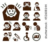 sick icon set | Shutterstock .eps vector #452608144