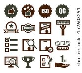 quality icon set | Shutterstock .eps vector #452608291