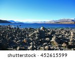 lake tekapo with the mountains... | Shutterstock . vector #452615599