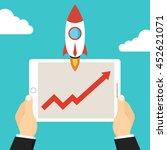 successful startup business... | Shutterstock .eps vector #452621071