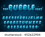 vector of stylized bubble font... | Shutterstock .eps vector #452622904