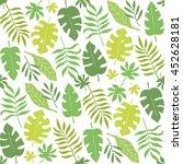 palm leaves seamless pattern... | Shutterstock .eps vector #452628181