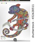 chameleon. animal patterns with ... | Shutterstock .eps vector #452628511