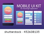 messenger application template. ...