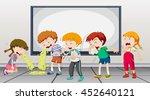 children being sick at school...   Shutterstock .eps vector #452640121