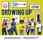 growing up entertainment hobby... | Shutterstock . vector #452644177