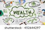 finance earnings wealth invest...   Shutterstock . vector #452644297