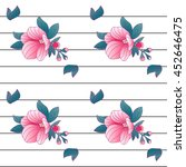 modern abstract striped... | Shutterstock .eps vector #452646475