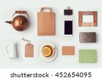 tea shop mock up template for... | Shutterstock . vector #452654095