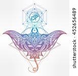 ornate stingray fish in tattoo... | Shutterstock .eps vector #452656489